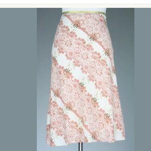 Vero Moda Retro Tie Wrap Knee Length Skirt S